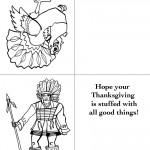 Printable B&W Turkey 1 / Indian Greeting Card