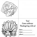 Printable B&W Turkey 1 / Indian Face 1 Invitation