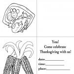 Printable B&W Turkey 1 / Wild Corn Invitation