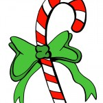 Printable Colored Candy Cane