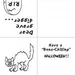 Printable B&W Cat Greeting Card