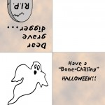 Printable Colored Ghost Greeting Card