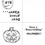 Printable B&W Pumpkin Greeting Card