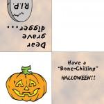 Printable Colored Pumpkin Greeting Card