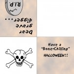 Printable Colored Skull Greeting Card