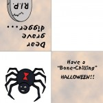 Printable Colored Spider Greeting Card
