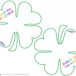 Worded Printable Four Leaf Clover Thank You Cards