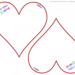 Worded Printable Heart-Shaped Thank You Cards