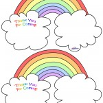 Worded Printable Rainbow Thank You Cards