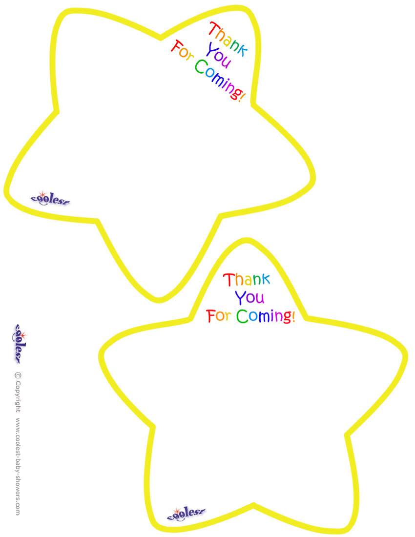 graphic relating to Printable Yellow Stars referred to as Worded Printable Yellow Star Thank Yourself Playing cards