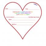 Care Bears Baby Shower Heart-Shaped Invitation