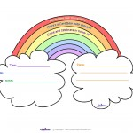 Care Bears Baby Shower Rainbow Invitation