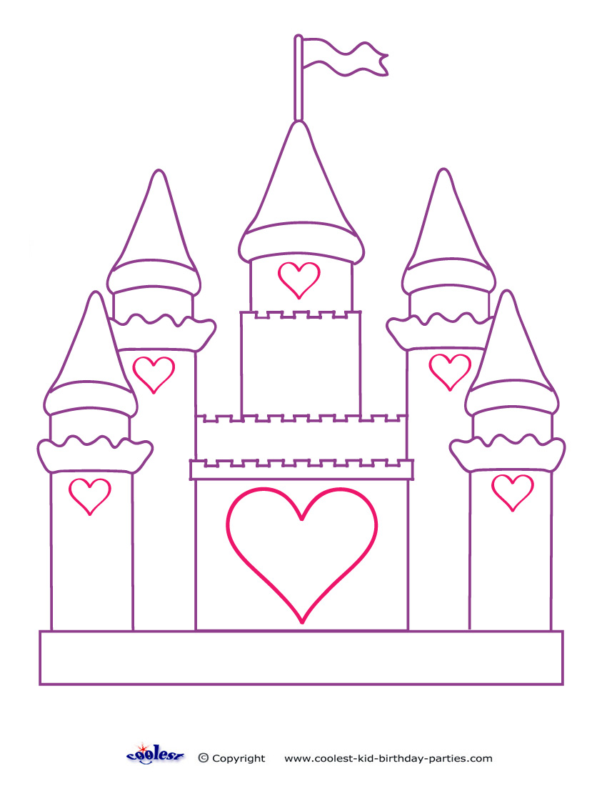 Printable Castle Decoration Disney Princess Castle Coloring Pages Free Coloring Sheets