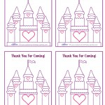 Printable Castle Thank You Cards
