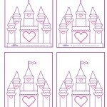 Blank Printable Castle Thank You Cards