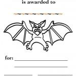 Printable B&W Bat Certificate