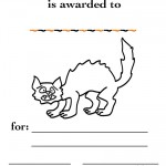 Printable B&W Cat Certificate