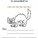 Printable B&W Cat Certificate
