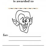Printable B&W Dracula Certificate
