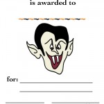 Printable Colored Dracula Certificate