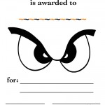 Printable Eyes 1 Certificate