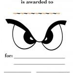 Printable Eyes 1 Certificate