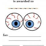 Printable Eyes 3 Certificate