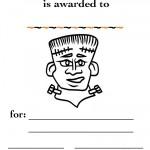 Printable B&W Frankenstein Certificate