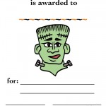 Printable Colored Frankenstein Certificate