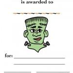 Printable Colored Frankenstein Certificate