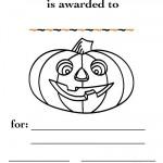 Printable B&W Pumpkin 1 Certificate