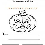 Printable B&W Pumpkin 2 Certificate