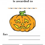 Printable Colored Pumpkin 2 Certificate