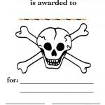Printable Skull Certificate