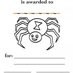 Printable B&W Spider Certificate