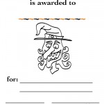 Printable B&W Witch Certificate
