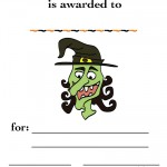 Printable Colored Witch Certificate