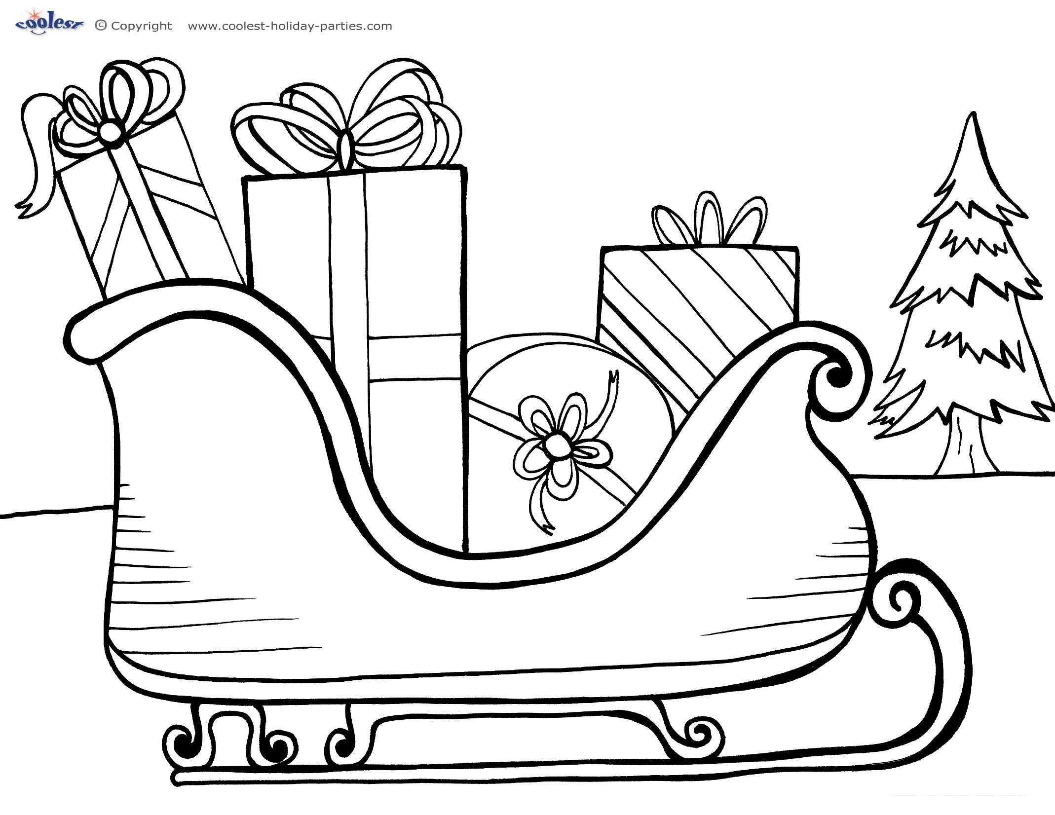 merry christmas signs coloring pages - photo#7