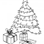 Printable B&W Christmas Tree