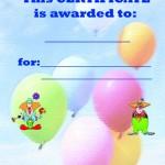 Printable Circus Certificate 2