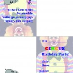 Printable Circus Foldable Invitation 1