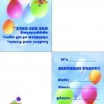 Printable Circus Foldable Invitation 2