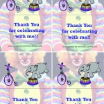 Printable Circus Foldable Thank You Cards 1