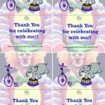 Printable Circus Foldable Thank You Cards 1