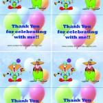 Printable Circus Foldable Thank You Cards 2