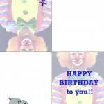 Printable Circus Greeting Card 1