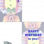 Printable Circus Greeting Card 1