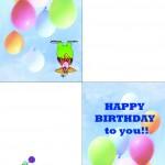 Printable Circus Greeting Card 2