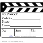 Printable Clapboard Decoration