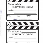 Printable Clapboard Invitations